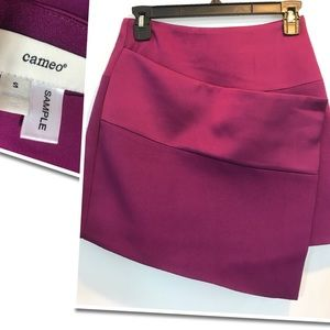 Cameo Wrap Pink Mid Skirt So Cute Small NWT